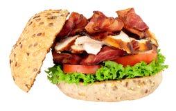 鸡和烟肉三明治卷 免版税库存照片