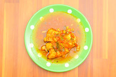 鸡和调味汁 免版税库存照片