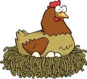 鸡和鸡蛋 库存例证