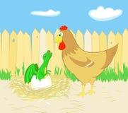 鸡和龙 图库摄影