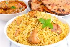 鸡咖喱印地安人膳食 图库摄影
