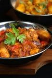 鸡咖喱印地安人 免版税库存照片