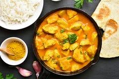 鸡咖喱印地安人 库存照片