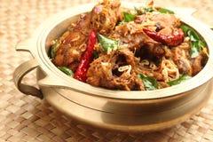 鸡咖喱印地安人 库存图片