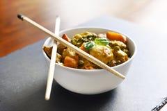 鸡咖喱我们的泰国食物 免版税库存图片