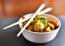 鸡咖喱我们的泰国食物 库存照片