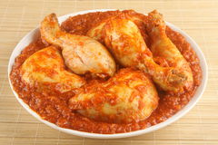 鸡咖喱 免版税库存图片