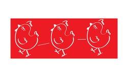 鸡商标 免版税库存照片