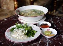 鸡在越南- Pho Ga的汤面 库存照片