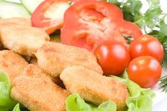 鸡块蔬菜 免版税图库摄影
