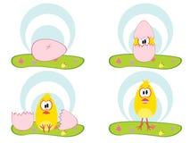 鸡复活节 库存例证
