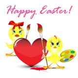 鸡复活节节假日例证 免版税库存照片