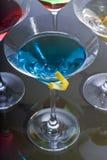 鸡尾酒五颜六色的马蒂尼鸡尾酒 库存图片