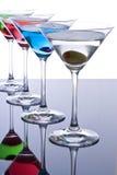 鸡尾酒五颜六色的马蒂尼鸡尾酒 库存照片