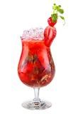 鸡尾酒健康人解决方法草莓 图库摄影