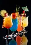 鸡尾酒喝热带多数普遍的系列 库存图片