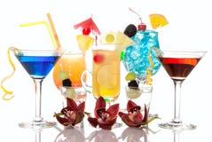 鸡尾酒夏威夷马蒂尼鸡尾酒日出龙舌&# 免版税库存图片