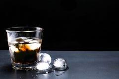 鸡尾酒威士忌酒可乐 库存图片