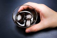 鸡尾酒威士忌酒可乐 库存照片