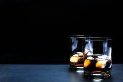 鸡尾酒威士忌酒可乐 免版税库存照片