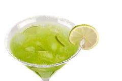 鸡尾酒异乎寻常的绿色 库存照片