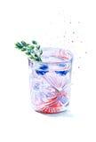 鸡尾酒杯1 免版税图库摄影