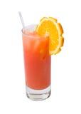 鸡尾酒查出的橙色刷新 免版税库存图片
