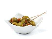鸡尾酒橄榄 库存图片