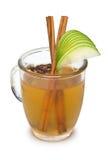 鸡尾酒用桂香、绿色Apple和丁香 库存图片