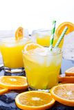 鸡尾酒用桔子 免版税库存图片
