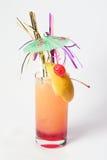 鸡尾酒粉红色吹 库存图片