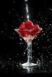 鸡尾酒草莓 图库摄影