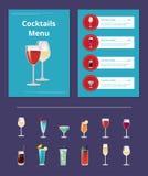 鸡尾酒菜单广告海报设计酒精 库存例证