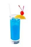 鸡尾酒蓝色夏威夷人 免版税库存照片