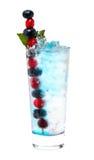 鸡尾酒蔓越桔蓝莓 图库摄影