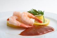 鸡尾酒虾 免版税库存图片