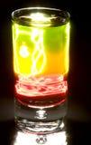 鸡尾酒被触击的闪电强大 库存照片