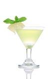 鸡尾酒饮料绿色马蒂尼鸡尾酒mojito黄色 库存照片
