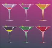 鸡尾酒,传染媒介例证 免版税库存图片