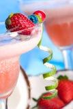 鸡尾酒colada多数普遍的系列草莓 免版税库存图片