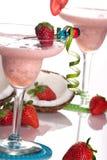 鸡尾酒colada多数普遍的系列草莓 库存照片