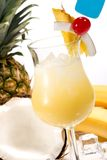 鸡尾酒colada多数pina普遍的系列 图库摄影