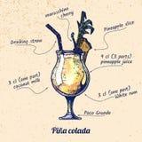鸡尾酒Pina colada 免版税库存图片
