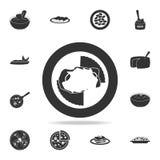 鸡巴马干酪象 详细的套意大利食物例证 优质质量图形设计象 一汇集ico 向量例证