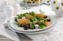鸡新鲜的葡萄柚沙拉沙拉 库存图片