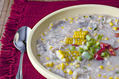 鸡杂烩玉米 免版税库存图片