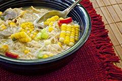 鸡杂烩玉米 库存图片