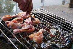 鸡格栅肉 图库摄影