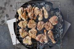 鸡格栅肉 免版税库存图片