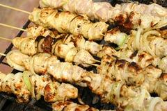 鸡格栅kebab shish 库存图片